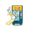 With menu bakery vending machine in a mascot