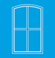 wooden window icon outline vector image vector image