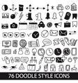 doodle style icons vector image