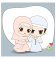Muslim wedding dress vector image