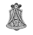 Black and white hand drawn Church Bell vector image