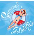 girl summer holidays 380 vector image
