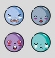 set character emoji faces message emotion vector image
