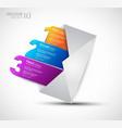1 2 3 Postcard Menu vector image vector image