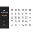 30 project management line icons vector image vector image