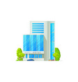 5 star hotel building facade exterior isolated vector image
