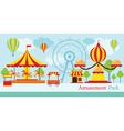 Amusement Park Carnival Fun Fair vector image vector image