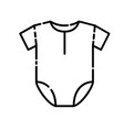 baby clothes icon design clip art line icon vector image vector image