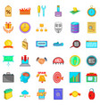 banking icons set cartoon style vector image vector image