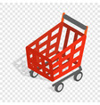basket on wheels for shopping isometric icon vector image vector image