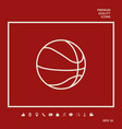 basketball ball line icon graphic elements for vector image