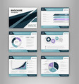 blue brochure template with infographics element vector image
