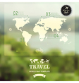 Blurred natural landscape Map on blurry background vector image