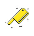 butcher knife icon design vector image