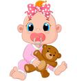 Cartoon cute baby vector image vector image