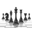 chess strategy concept vector image vector image