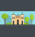 church with cross banner flat style vector image