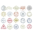 Colorful Postal Stamps Set vector image