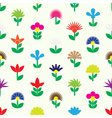 colorful simple retro small flowers set of icons vector image vector image