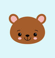 cute bear funny animal little bear in cartoon vector image