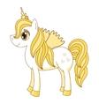 cute horse princess royal vector image