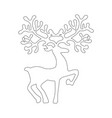 deer silhouette coloring page vector image vector image