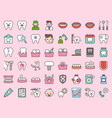 dentist and dental clinic related icon bold line vector image vector image