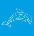 dolphin icon outline style vector image vector image