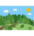 Forest woods cardboard paper landscape Park green vector image vector image
