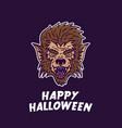 halloween werewolf vector image vector image