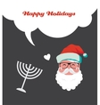 happy holidays jewish holiday menorah and Xmas vector image
