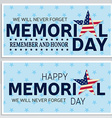 Happy Memorial Day greeting card flyer Happy