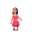 happy smiling girl standing pose little child in vector image