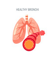 healthy lungs icon in flat style vector image