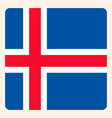 iceland square flag button social media vector image