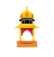 Indian Temple with arch Cartoon vector image vector image