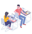 isometric education concept vector image vector image