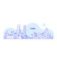 istanbul skyline turkey city buildings line vector image
