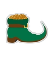 leprechaun boots with gold coins icon vector image
