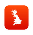 map of great britain icon digital red vector image vector image