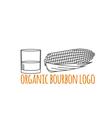 Modern line style logo branding logotype badge vector image vector image