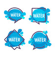 natural water logo labels and stickers vector image