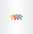 neighborhood house icon logo symbol vector image vector image