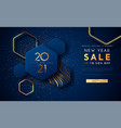 new year 2021 gold sale template background vector image