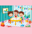 of preschool children vector image