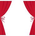 open luxury red silk stage theatre curtain velvet vector image