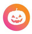 orange to pink halloween holiday pumpkin flat icon vector image vector image