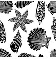 pattern of the seashells silhouettes vector image vector image