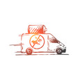 pest service car toxic insecticide concept vector image