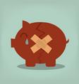 piggy bank economic depression vector image vector image